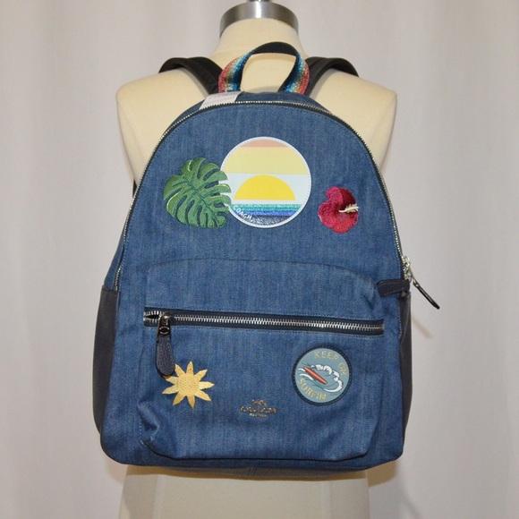 af1defdd35b Coach Bags   New Blue Denim Hawaiian Charlie Backpack   Poshmark